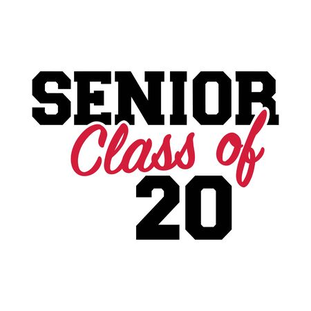 Senior class of 2020 black Archivio Fotografico - 140699500