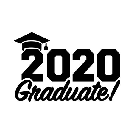 2020 graduate in black with mortarboard