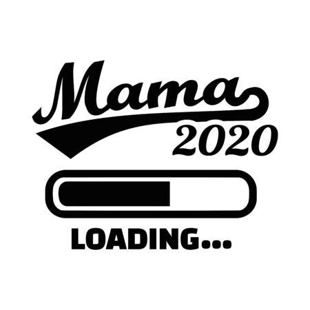 Mom Mum loading 2020 german 向量圖像