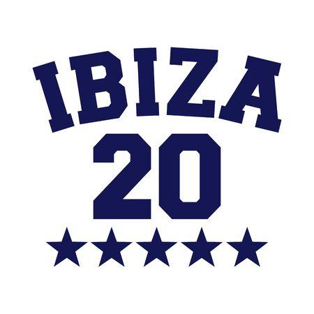 Ibiza 20 stars dark blue