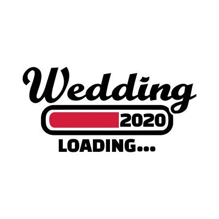 Wedding loading in year 2020 german