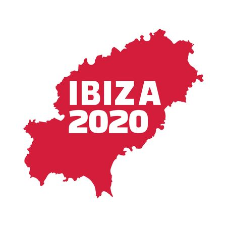 Ibiza 2020 with country frontier Иллюстрация