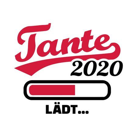 Aunt in year 2020 loading german
