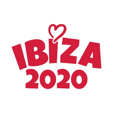 Ibiza 2020 with red heart