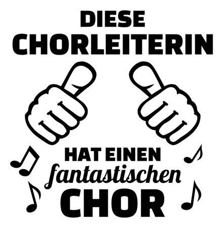 Choir director female thumbs up german