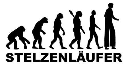 Stiltwalker performer evolution silhouette german