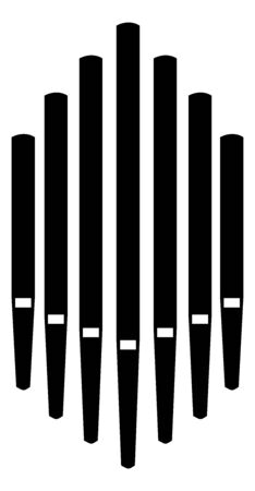 Pipe organ music instrument church icon