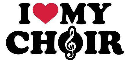 I love my choir red heart