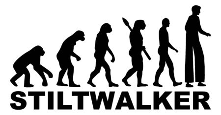 Stiltwalker perfomance artist evolution icon