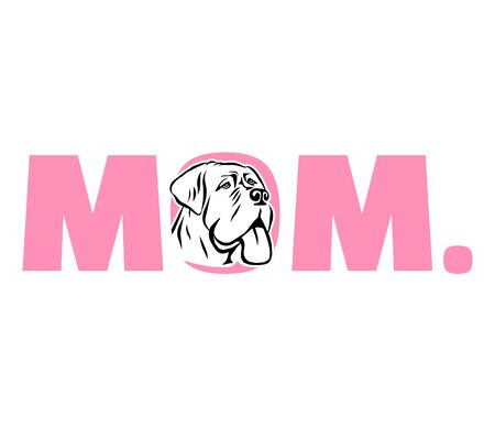 Mastiff best mom ever pink Illustration