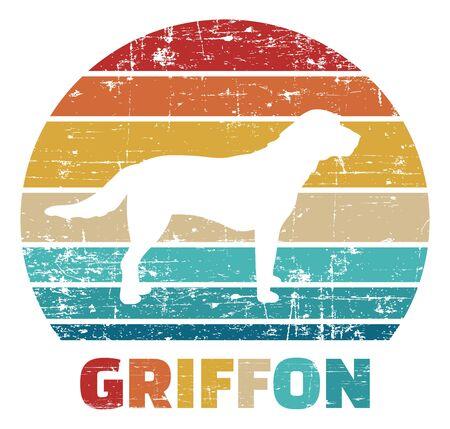 Griffon silhouette vintage and retro