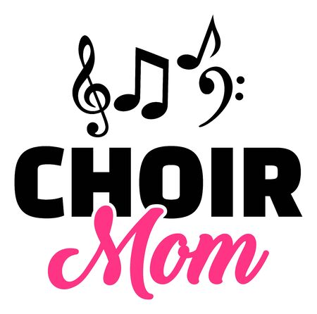 Choir mom with sheet music