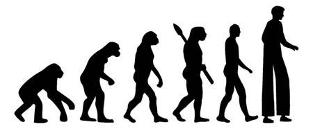 Stiltwalker artist evolution silhouette icon Ilustração