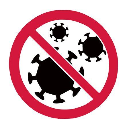 Stop coronavirus virus covid-10 ban