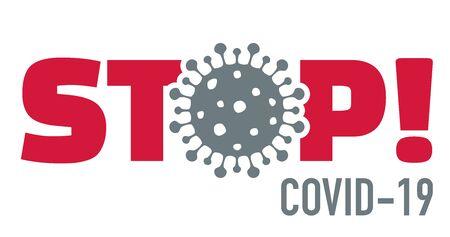 Stop covid-19 coronavirus with virus icon