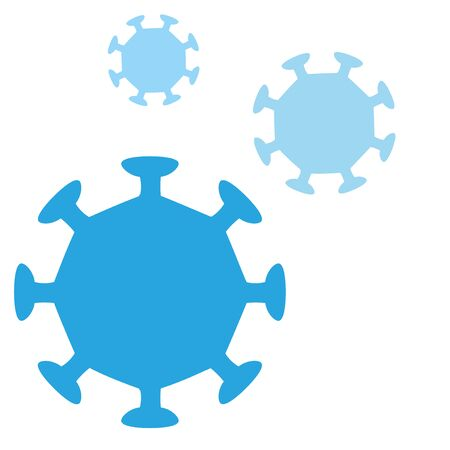 Triple virus icons, coronavirus, covid-19