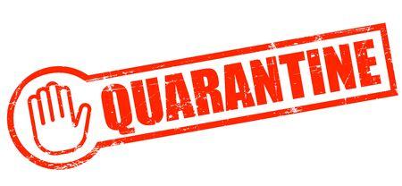 Quarantine, Stamp vintage grunge, during coronavirus covid-19
