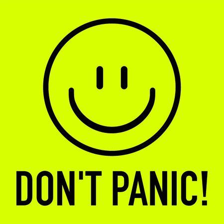 Don't panic coronavirus covid-19 with laughing smiley