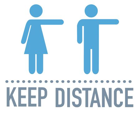 Keep your distance sign coronavirus epidemic during coronavirus covid-19 矢量图像