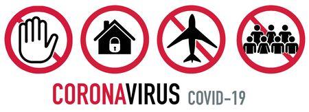 Ban set corona covid-19 stop hand quarantine travel groups