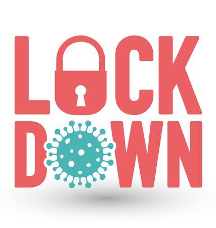 Coronavirus covid-19 lock down word