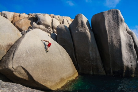 Climber in Capo Testa