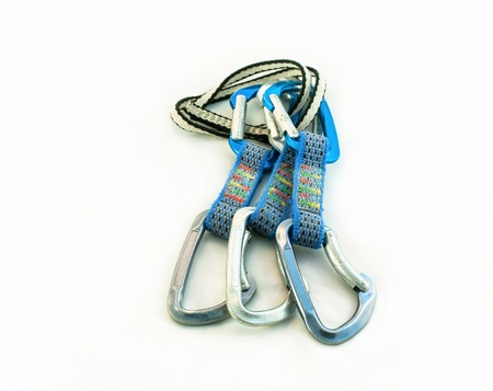 three carabiners and a sling