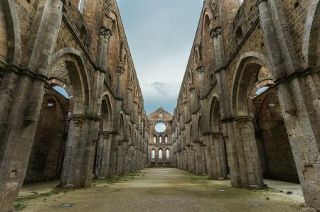 San Galgano abbey ruins