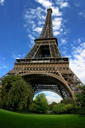 Eiffel tower fisheye view