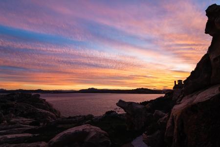 Sunset over Maddalena island