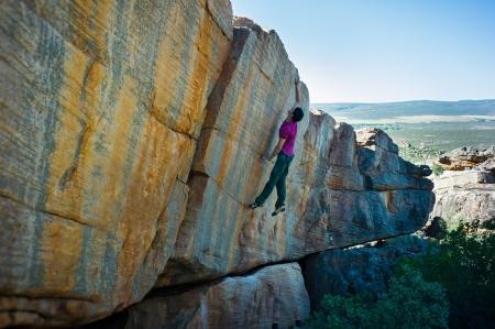 Leap of Faith boulder, 8a, Rocklands