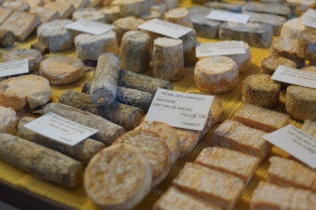 French cheese at the market