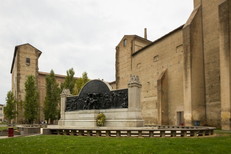 Verdi memorial monument in Parma, Italy