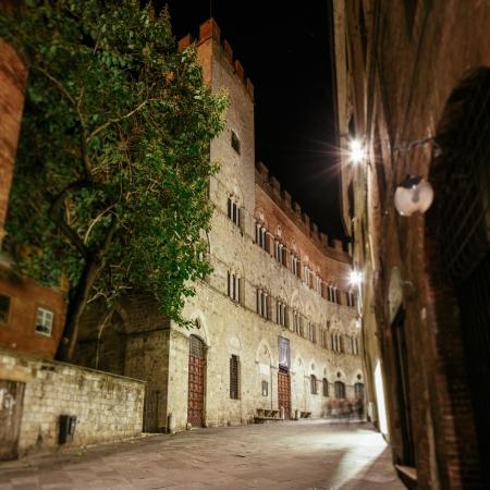 Palace Chigi Saracini in Siena, Tuscany, Italy Stock Photo