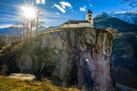 Church above precipice