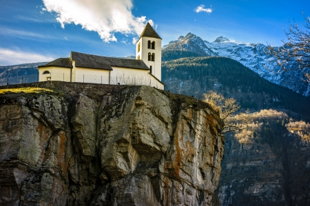 Church at the top of a cliff