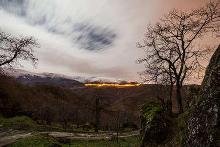 Night over Sibillini Mountains