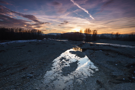 Reflection of a sunset