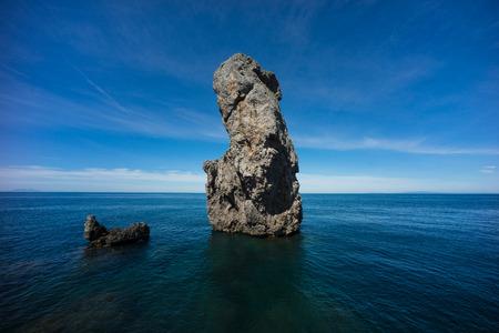 Sea stack at Giglio island Stock Photo