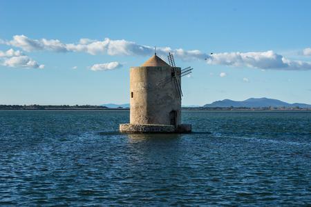 Old windmill near Orbetello GR Italy Stock Photo