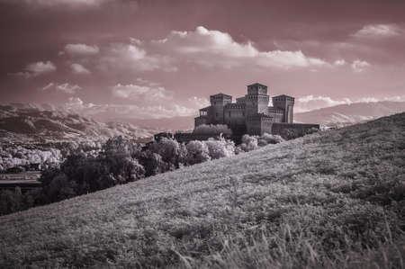 Torrechiara castle infrared view
