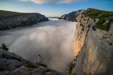 Morning mist in the Gorges du Verdon