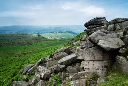 Higger Tor View, Peak District, UK Stock Photo