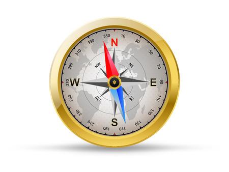 Golden compass, vector  Illusztráció