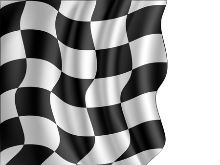 checker flag: Racing checkered flag waving  Illustration