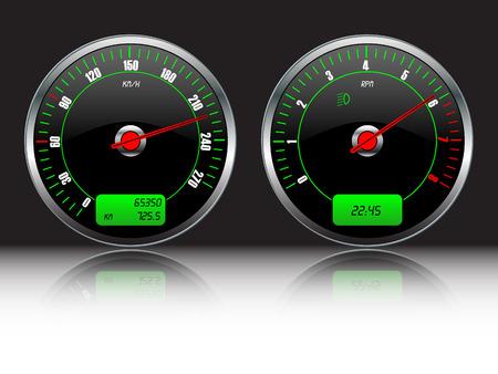 gauges: Car dashboard gauges