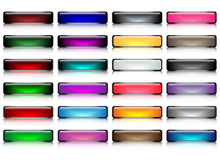 glossy buttons: Tasti lucidi con vettore riflessione liscia, parte 1