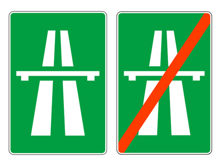 highway signs: Highway signs, vector  Illustration