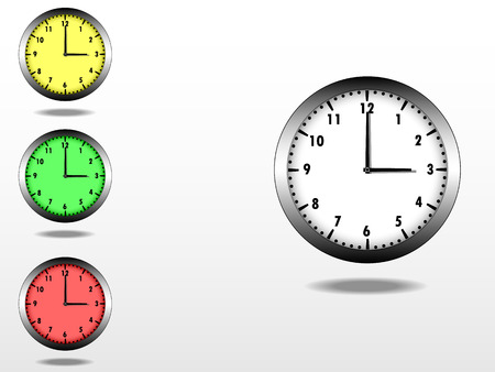metal frame: Clock vector, with metal frame, and easy editable inner color  Illustration