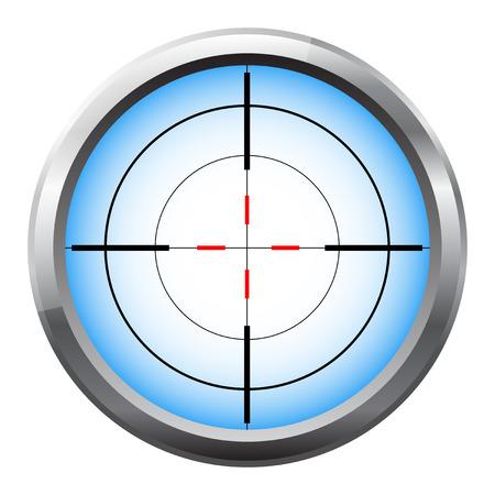 scope: Sniper scope cross hairs